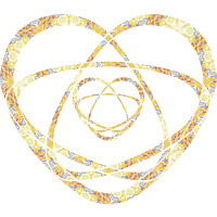 Golden Atom Star Heart