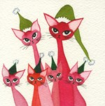 Whimsical Christmas Cats Gifts