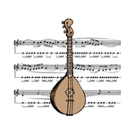 Mandolin and Sheet Music Design
