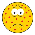 Chicken Pox/Measles Sick Smiley Face