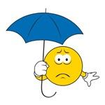 Umbrella Sad Smiley Face