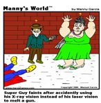 SUPERGUY FAINTS!