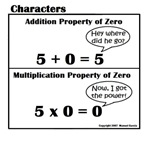 PROPERTIES OF ZERO in Addition and Multiplication