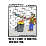 WHEN IT'S TIME TO BARBECUE MEN CAN COOK
