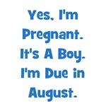 Pregnant w/ Boy due August