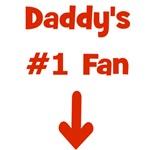 Daddy's #1 Fan! (red)