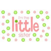 i'm the little sister polkadot