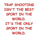 a funny trap shooting joke on gifts and t-shirts.