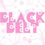 Pink Floral Black Belt