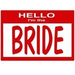 Bride Nametag (red)