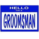 Groomsman Nametag (blue)