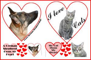 Valentine Hearts of Love