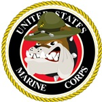 Big Devil Dog USMC Seal Design