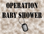 Operation Baby Shower Invitations (3 colors inside