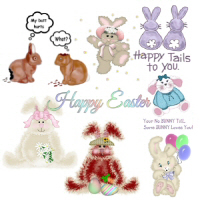 Happy Easter Bunny,<br>Easter TShirts,Apparel,<br>