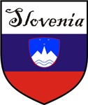 Slovenia Flag Crest Shield