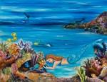 Mermaid tending to her fish