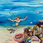 Mermaid with sea turtles
