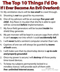 If I Ever Become An Evil Overlord!