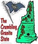 NH - The Crumbling Granite State.