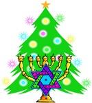 Hanukkah and Christmas Interfaith Family