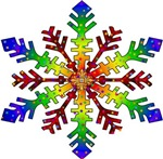 Rainbow Stars Snowflake