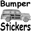 Bumper Stickers<BR> and License Frames