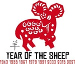 Chinese Year of The Sheep T-Shirts Gifts