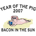 Bacon In The Sun T-Shirt and Gifts