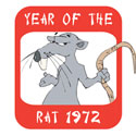 Year of The Rat 1972 T-Shirt & Gifts