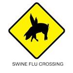Swine Flu Crossing Sign