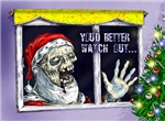 Zombie Santa's watching you Christmas cards