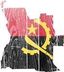 Angola Flag And Map