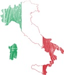 Italy Flag And Map