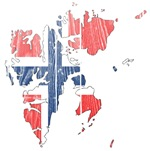 Svalbard Flag And Map
