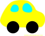 One Yellow Car!
