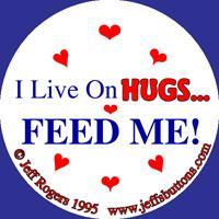 Hug buttons (and kisses)!