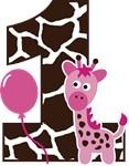 Girl Giraffe 1st Birthday
