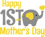 1st Mother's Day Elephant Yellow