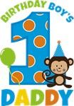 Monkey Birthday Boy's Daddy