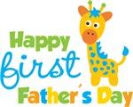 Giraffe Happy 1st Fathers Day