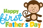 Boy Monkey Happy 1st Fathers Day