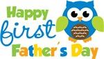 Boy Owl Happy 1st Fathers Day