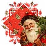 Santa and Poinsettia