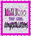 well done top girl congratulations illustration