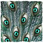 human eyes peacock feathers art illustration