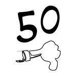 50th birthday t-shirt humor thumbs down gift ideas
