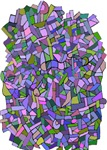 Arty Purple and Green Mosaic