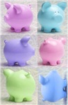Colorful Cute Pigs Collage