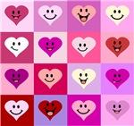 Pink Smiley Hearts